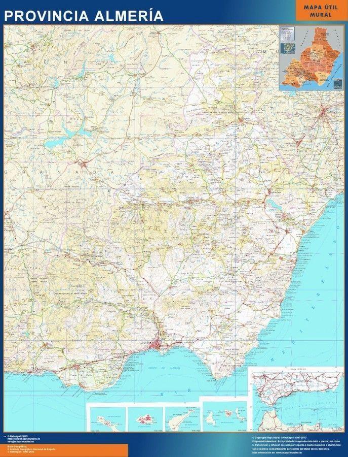 mapa provincia almeria magnetico