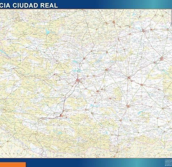 mapa provincia ciudad real magnetico