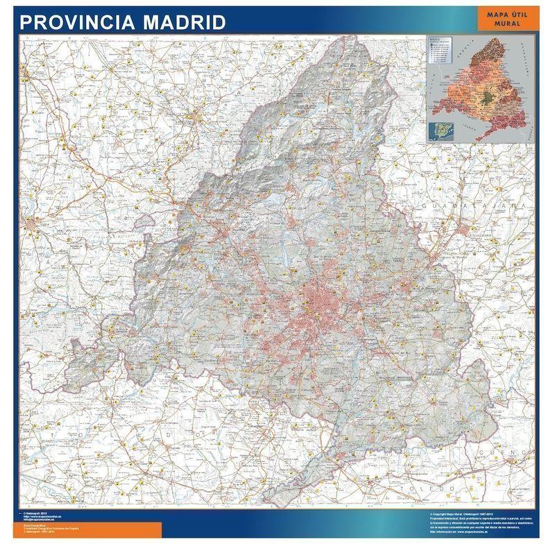 mapa provincia madrid magnetico
