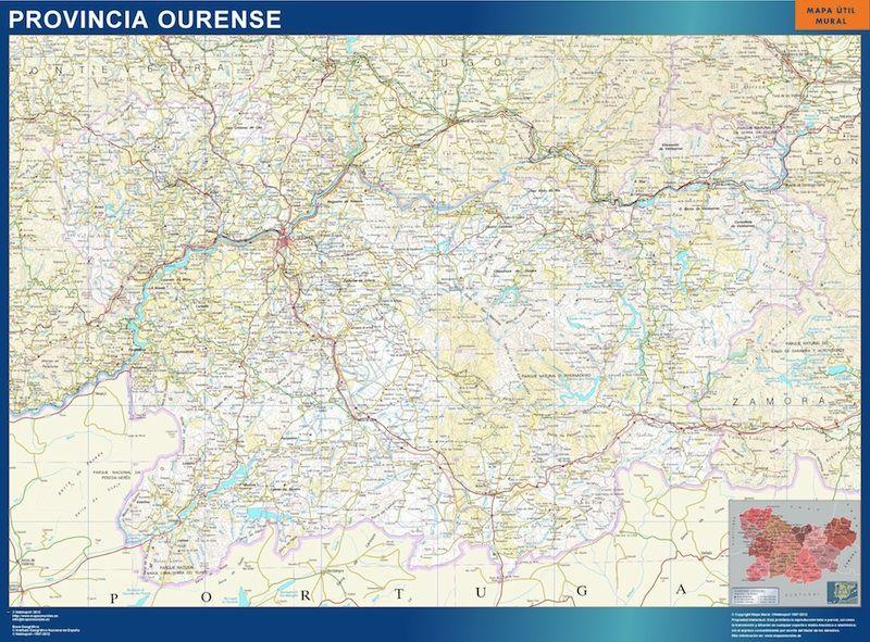 Mapa Provincia Ourense Magnetico Digital Maps Netmaps Uk Vector