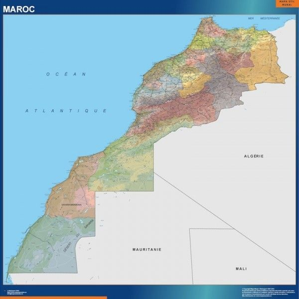 morocco vinyl sticker maps