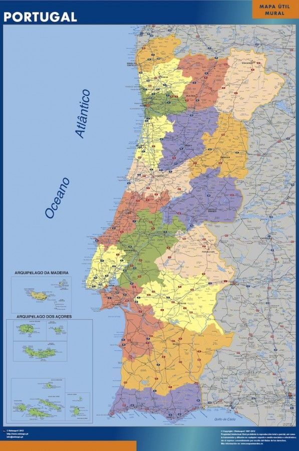 portugal vinyl sticker maps