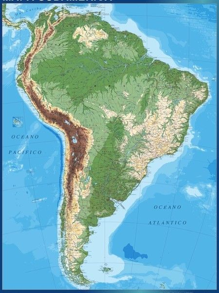 south america magnetic map