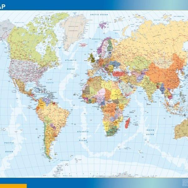 world framed map