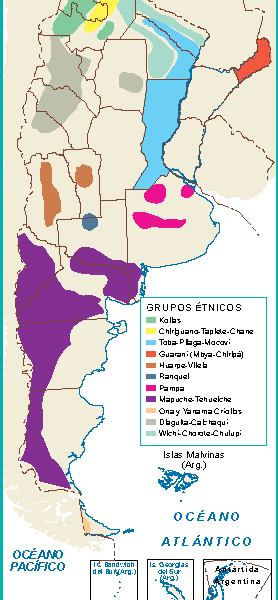 Argentina mapa grupos etnicos