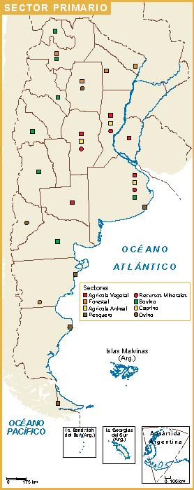 Argentina mapa sector primario
