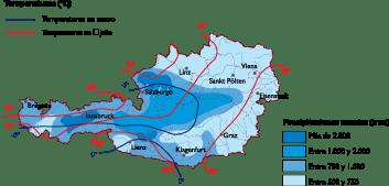 Austria Climate map