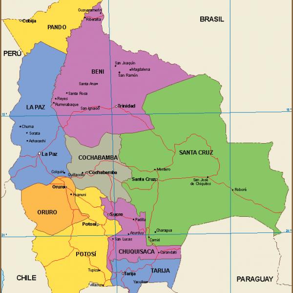 Bolivia mapa