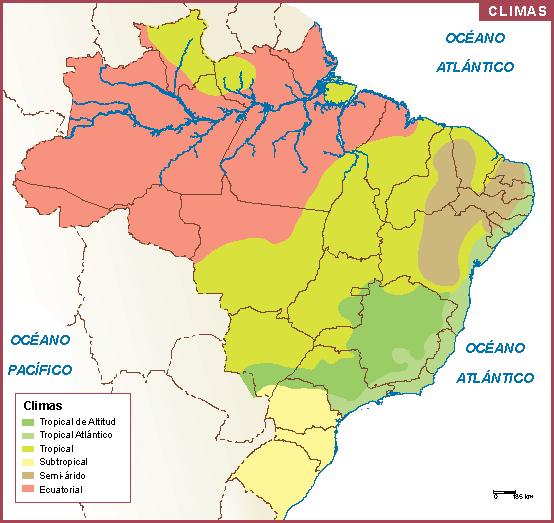 Brasil mapa clima