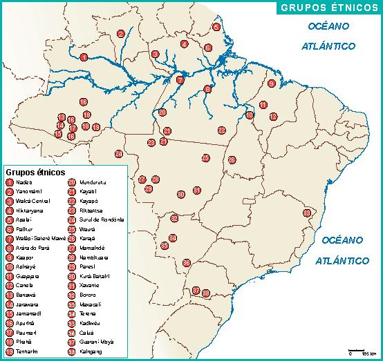 Brasil mapa etnicos