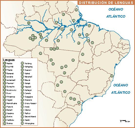 Brasil mapa lenguas