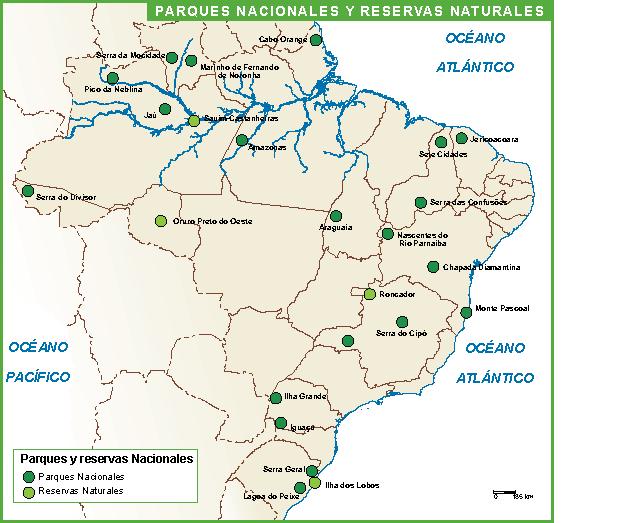 Brasil mapa parques