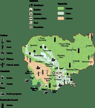 Cambodja Economic map