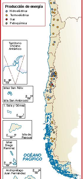 Chile mapa energia