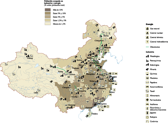 China Economic map
