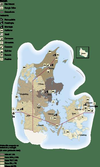 Denmark Economic map