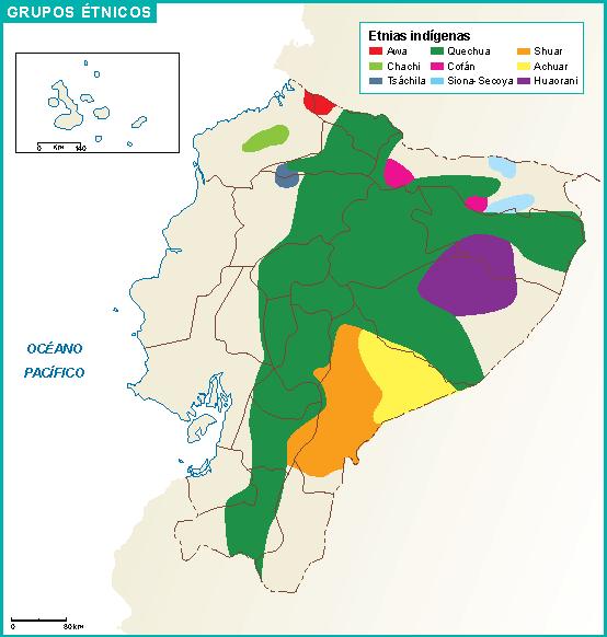 Ecuador mapa etnicos