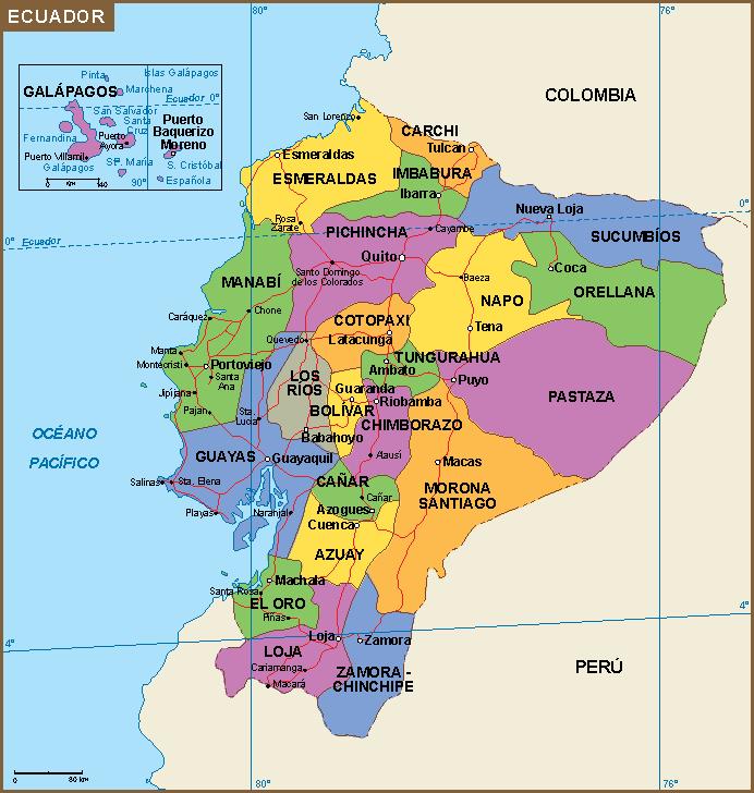 Ecuador Mapa Digital Maps Netmaps UK Vector Eps Wall Maps - Ecuador map