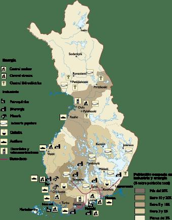 Finland Economic map
