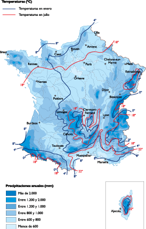 France Climate map
