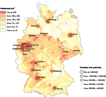 Germany Population map