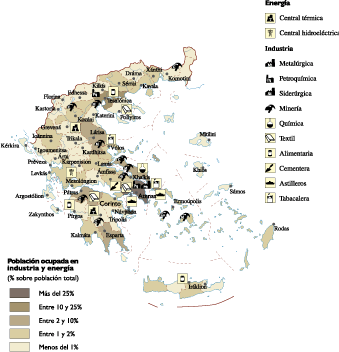 Greece Economic map
