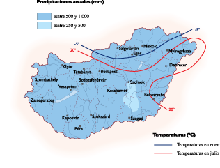 Hungary Climate map