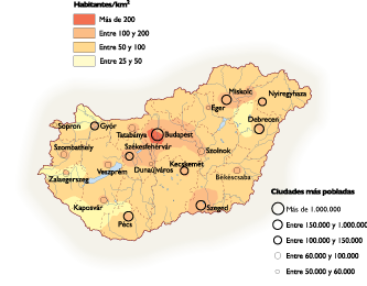 Hungary Population map