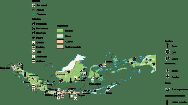 Indonesia Economic map