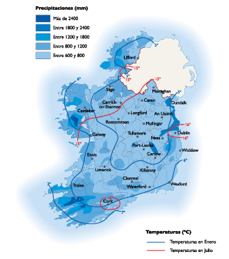 Ireland Climate map