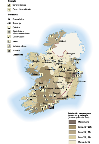Ireland Economic map