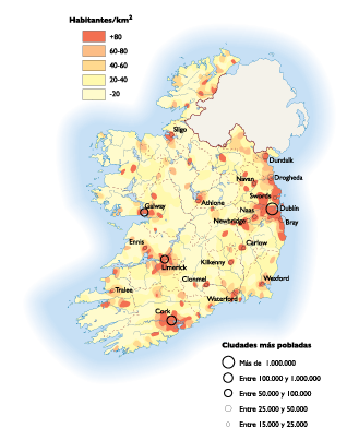 Ireland Population map