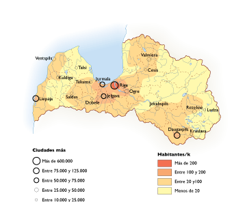 Letonia Population map