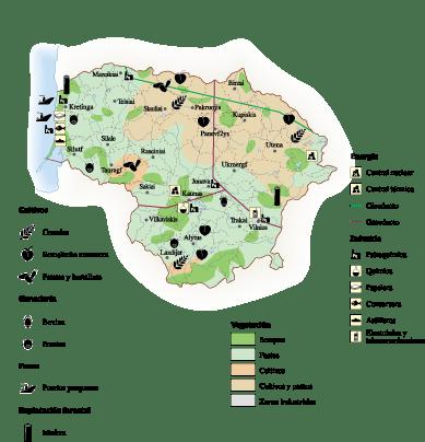 Lithuania Economic map
