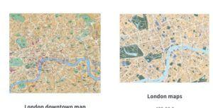 london vector eps maps