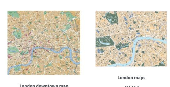 london vector eps maps