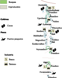 Maldives Economic map
