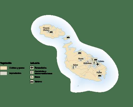 Malta Economic map