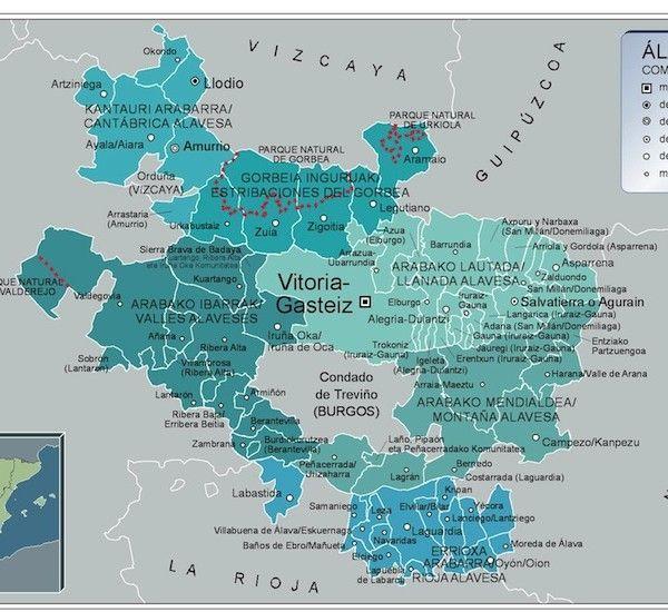 Mapa Municipios Alava