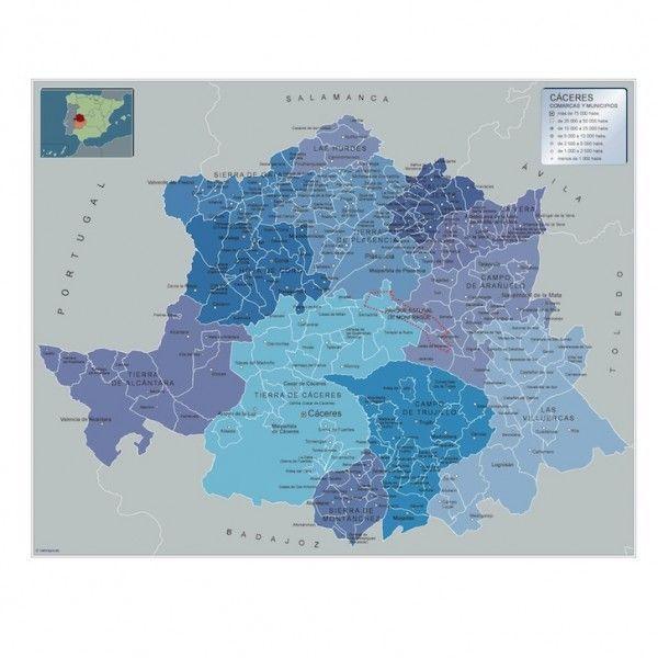 Mapa Municipios Caceres