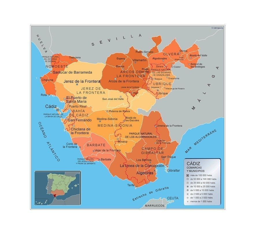 Mapa Municipios Cadiz