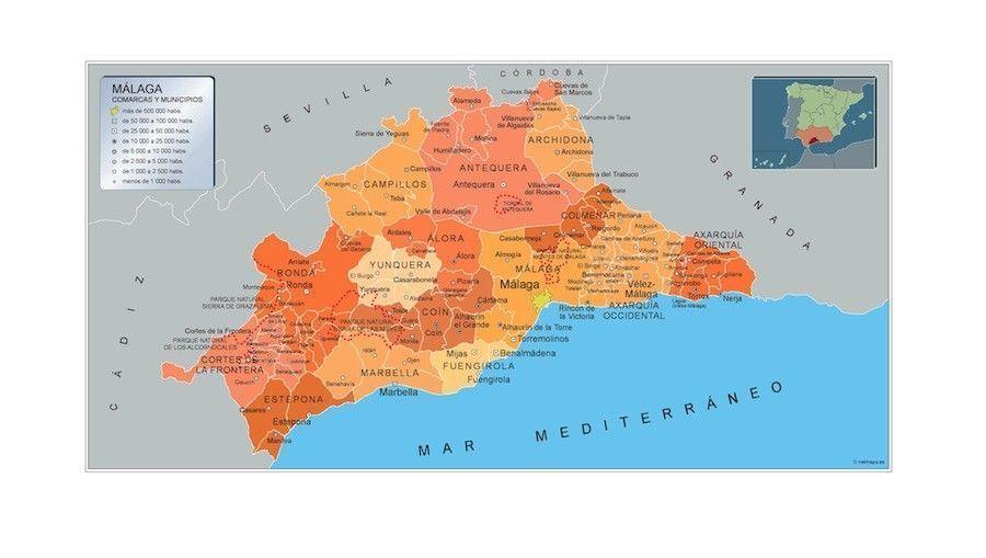Mapa Municipios Malaga
