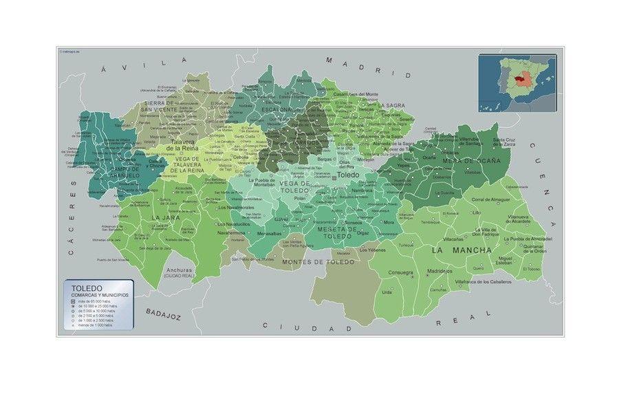 Mapa Municipios Toledo