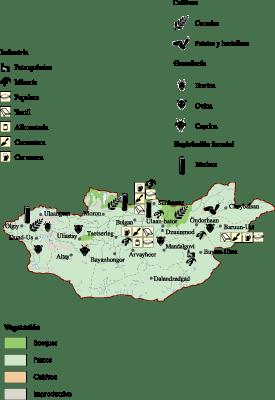 Mongolia Economic map