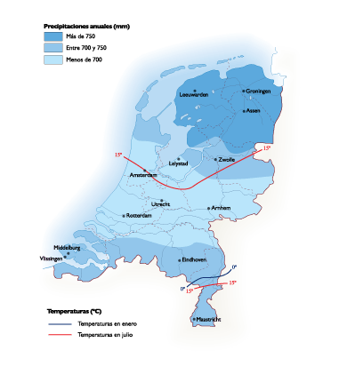 Netherlands Climate map