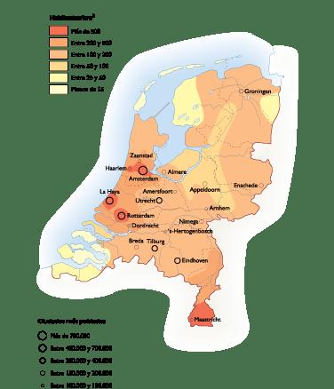 Netherlands Population map