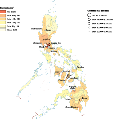 Philippines Population map
