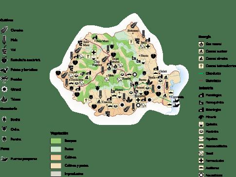 Romania Economic map