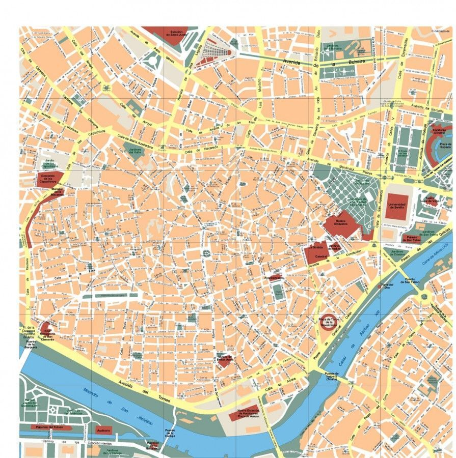 Sevilla Vector Map