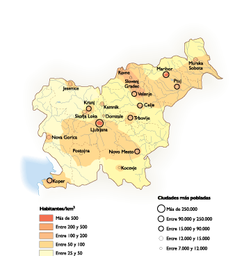 Slovenia Population map
